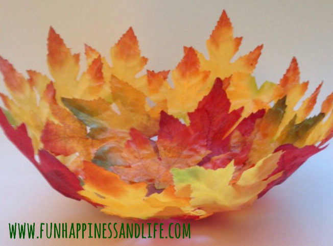 Make this easy quick Mod Podge craft with seasonal decor from the Dollar Store. This DIY Leaf Bowl can hold add color to your autumn decorations this fall.