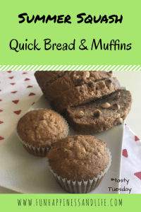 Shredded summer squash can be baked into a delicious quick bread or muffins. A snack that's a dessert with a vegetables mixed in. Make it for your family and enjoy it yourself. Enjoy this recipe made from your garden