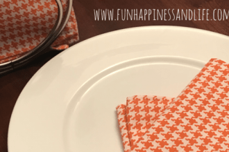 DIY handmade cloth napkin is an easy sewing craft to make a reusable product and cut down on waste in your kitchen.