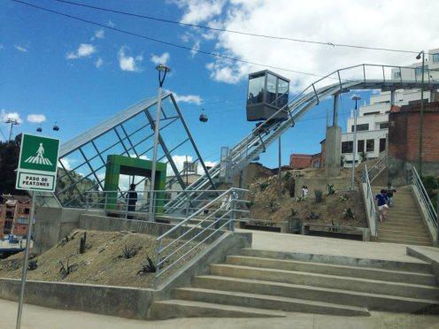 New funicular at Linea Verde, La Paz