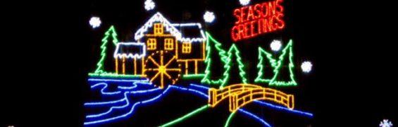 Bull Run Festival of Lights holiday drive through display