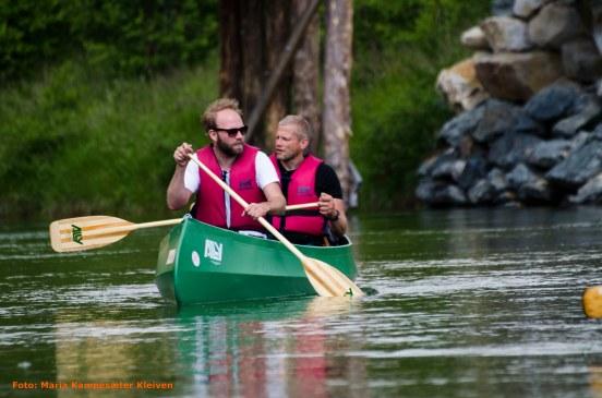 Minner fra Rondane. Geir Arne og Mathias Eick i båten.