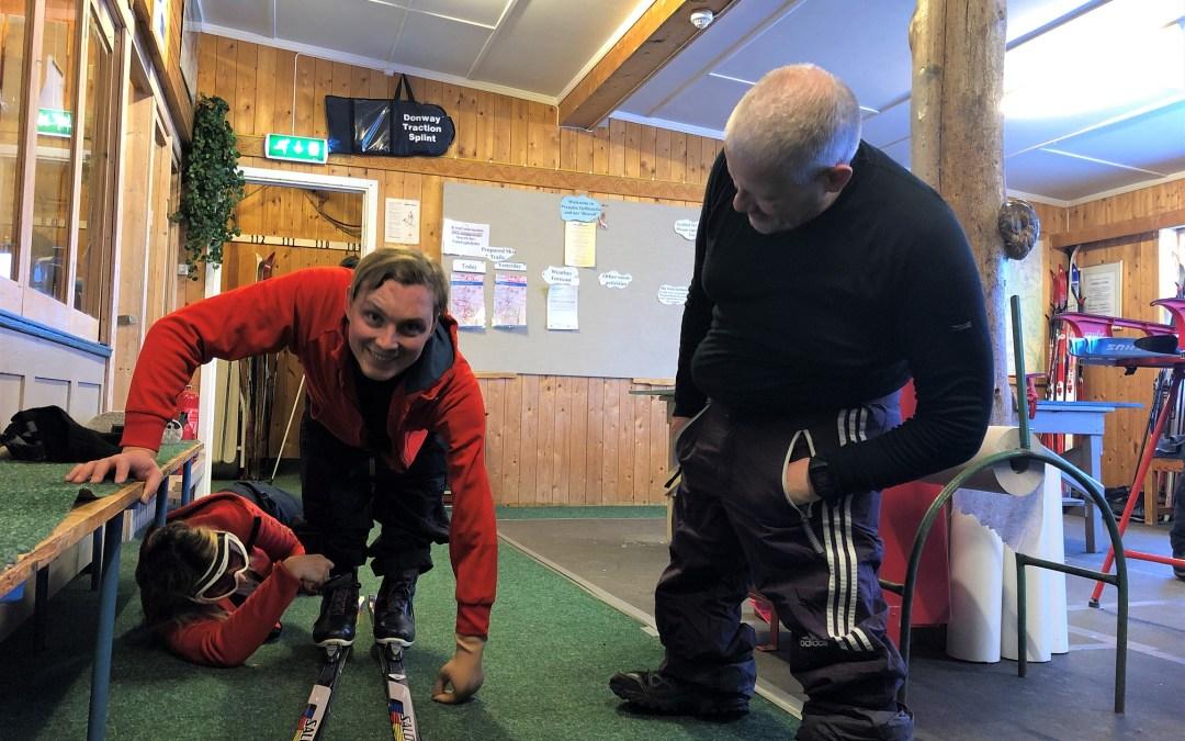 Beinløse skiturister