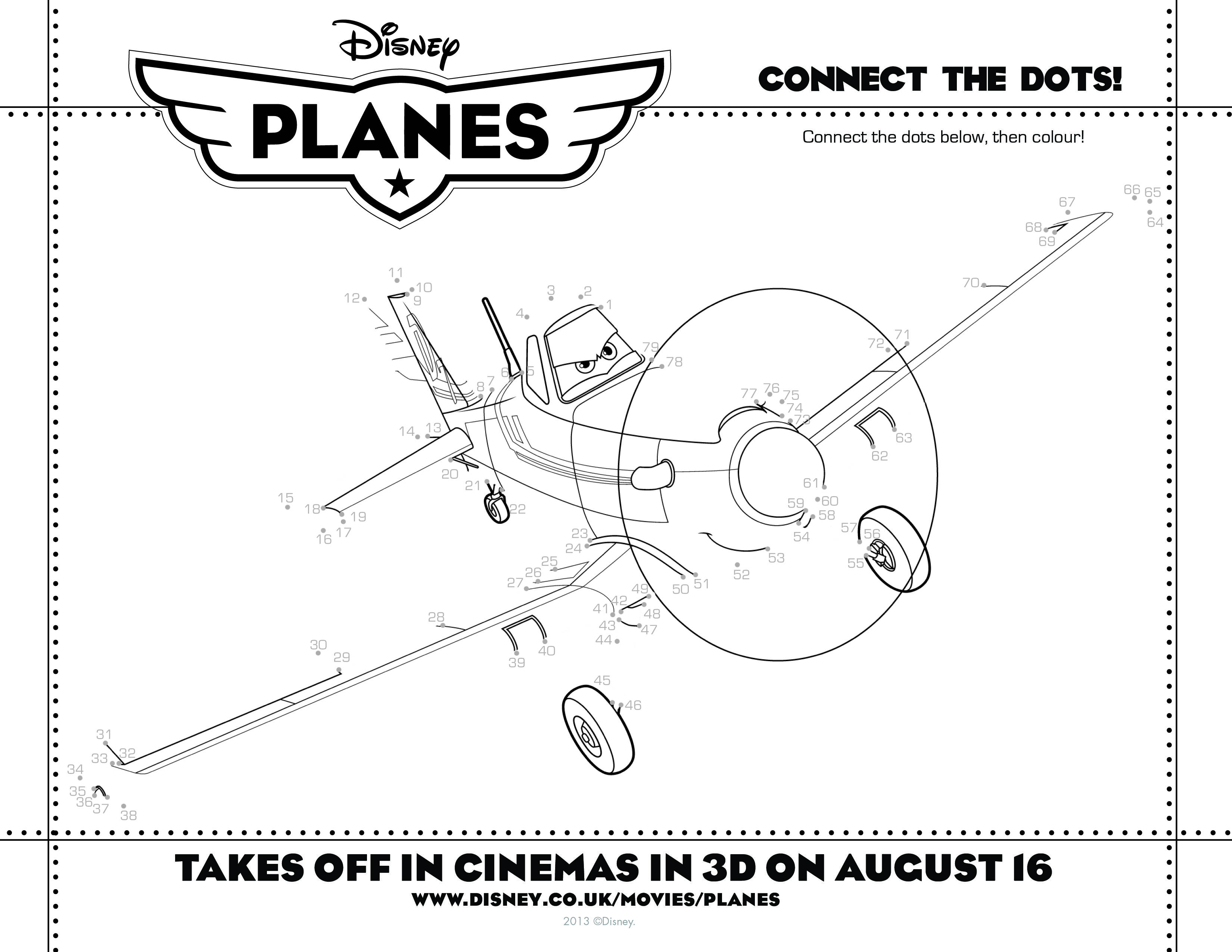 Play With Disney Planes Colouring In Activity Sheets