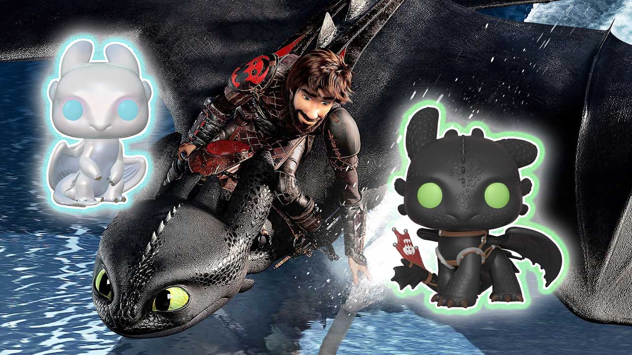 How To Train Your Dragon 3 Funko Pop Of Toothless Light Fury And More