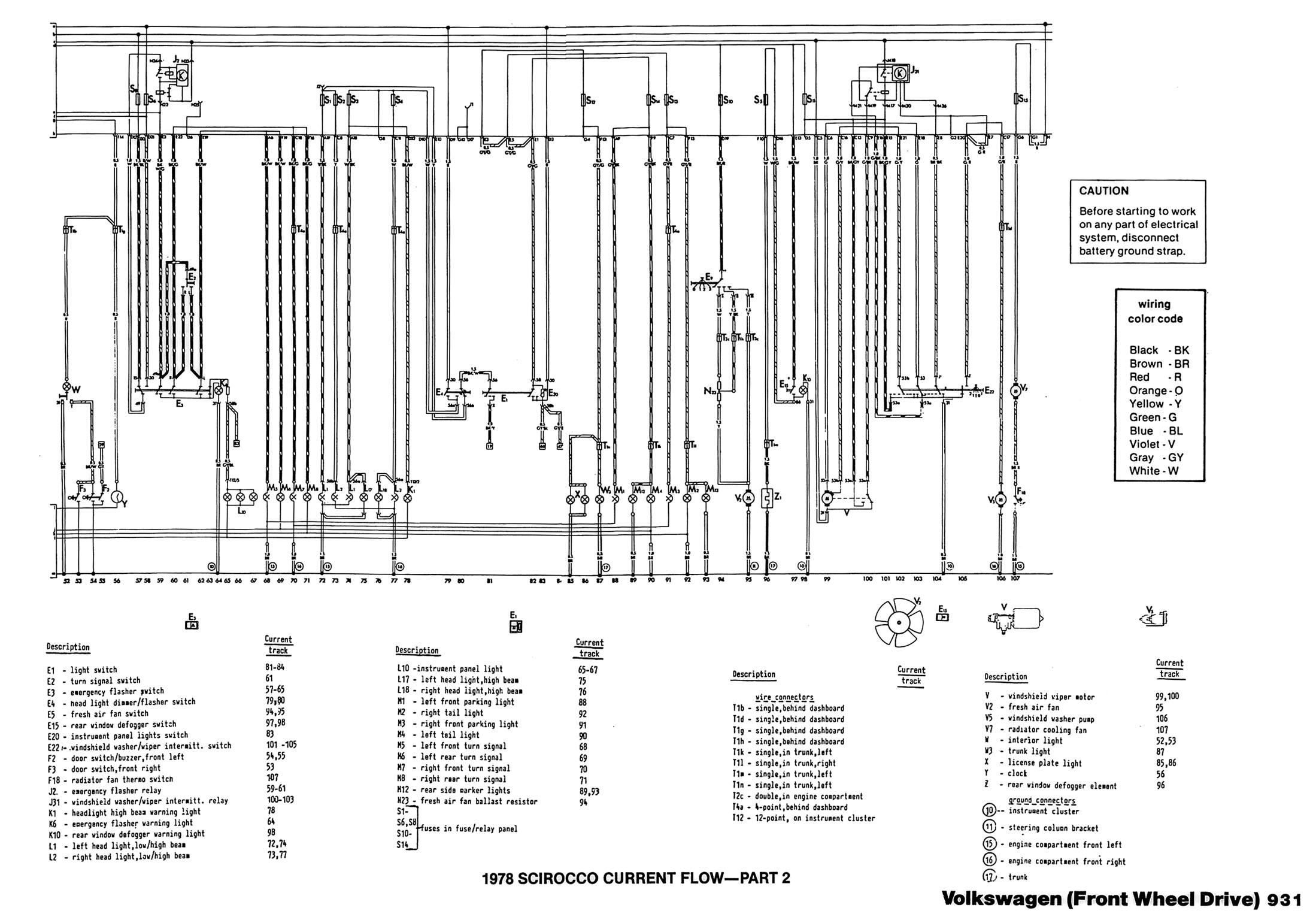 Scirocco Wiring Diagram