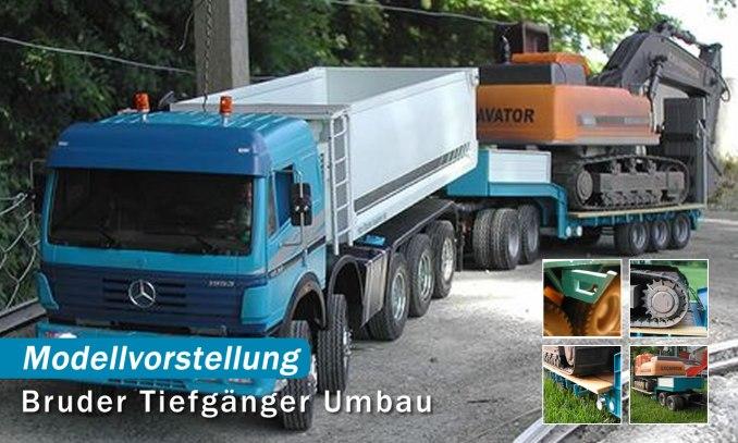 Bruder Tieflader Umbau