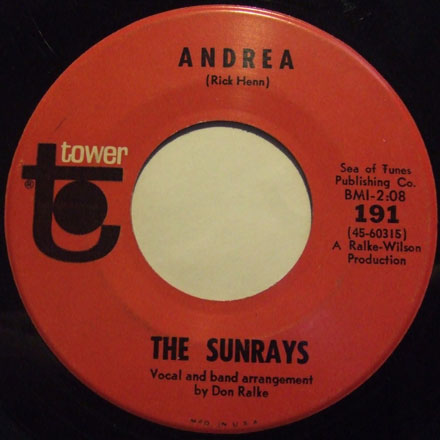 274b86616896 Listen Download – The Sunrays – Andrea
