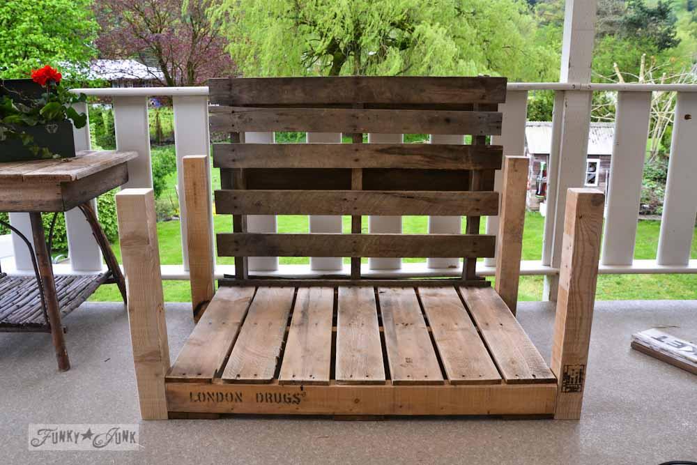 Pallet Wood Patio Chair Build Part 2 Funky Junk Interiors