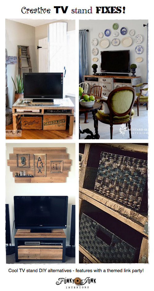 Party Junk 202 Cool DIY TV Stands Funky Junk Interiors
