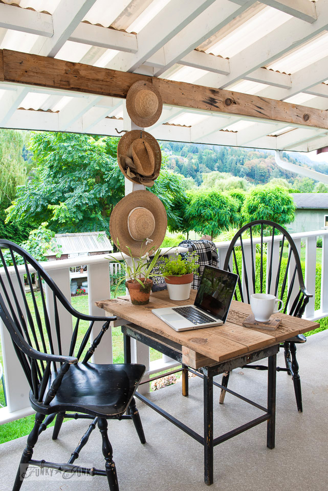 Summer Patio Revamp With A Reclaimed Wood Farm TableFunky