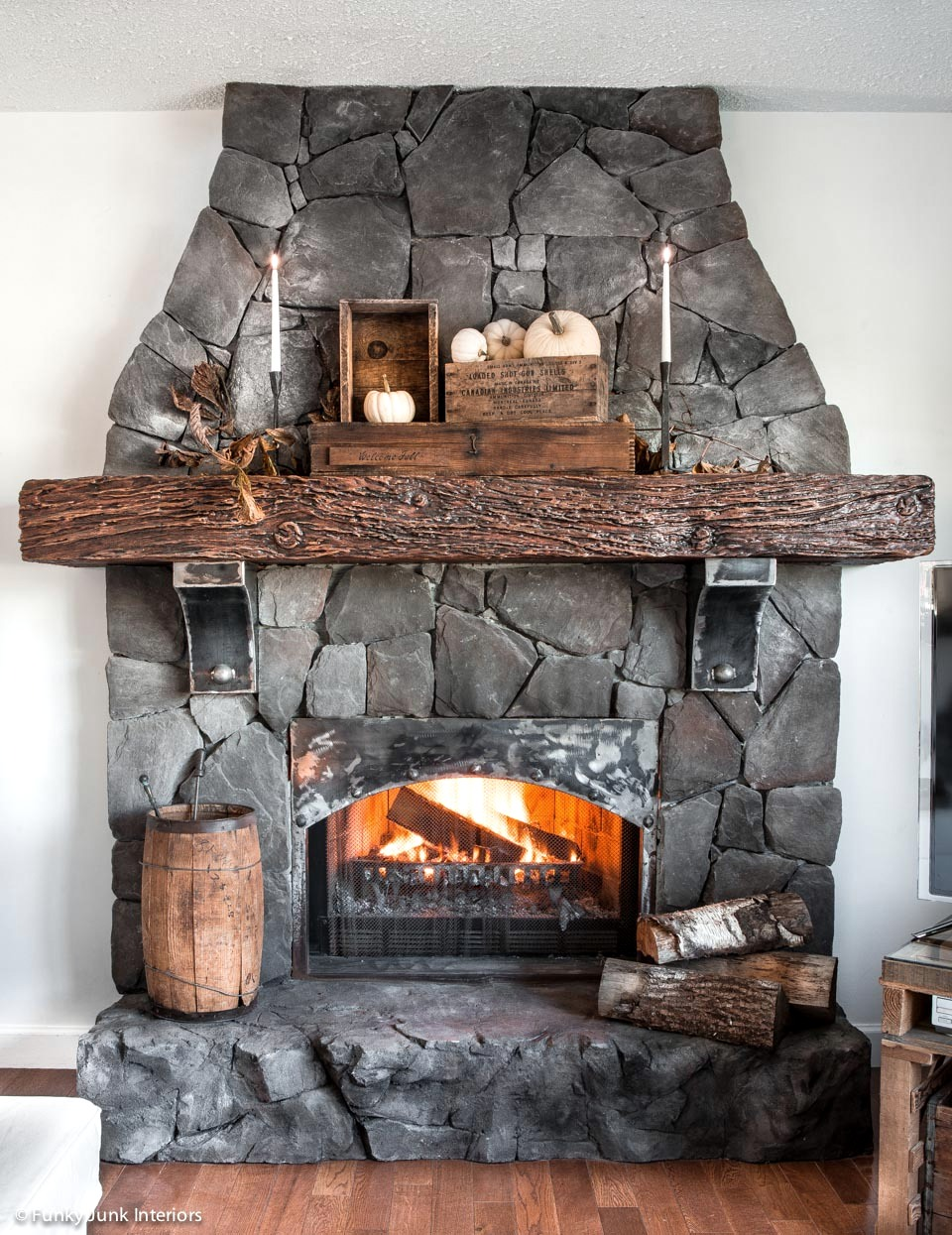 Welcome Fall Rustic Living Room Tour Funky Junk Interiors