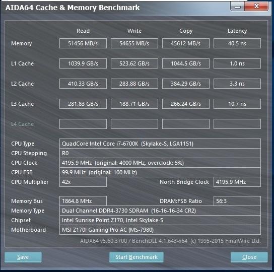 GSkill TridentZ 16GB 3000C14 OC3733