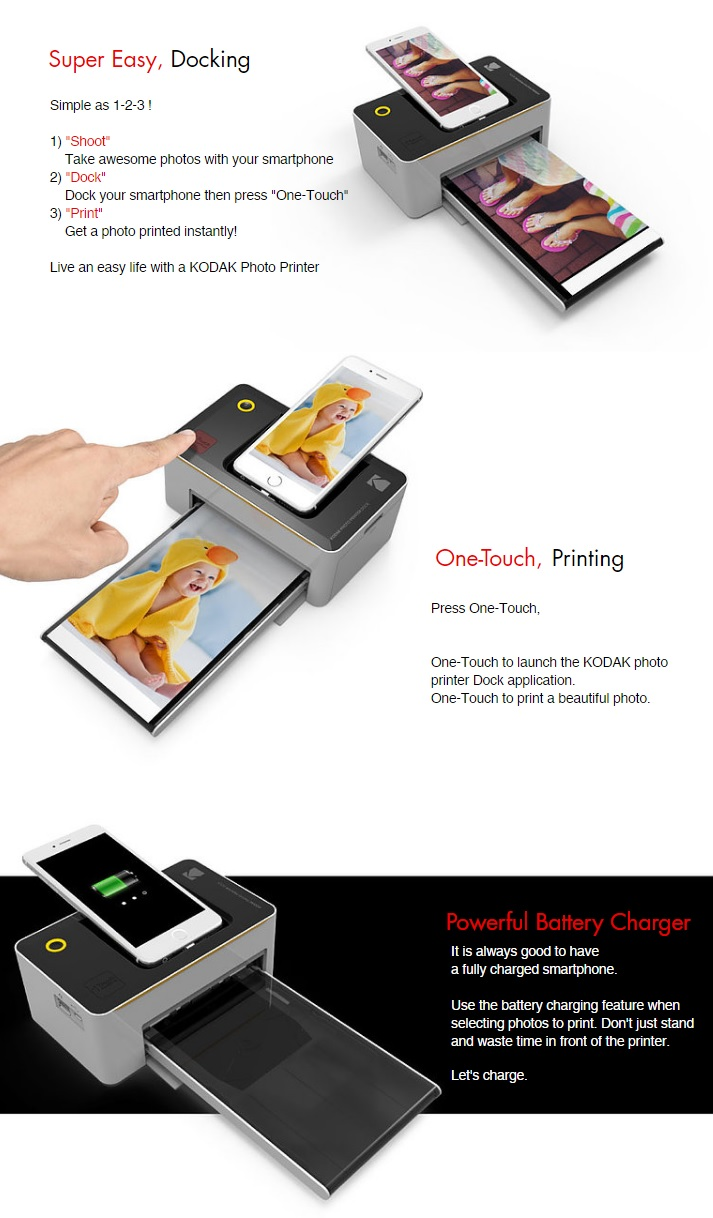 Kodak Photo Printer Dock Pd480 And Photo Printer Mini Funkykit
