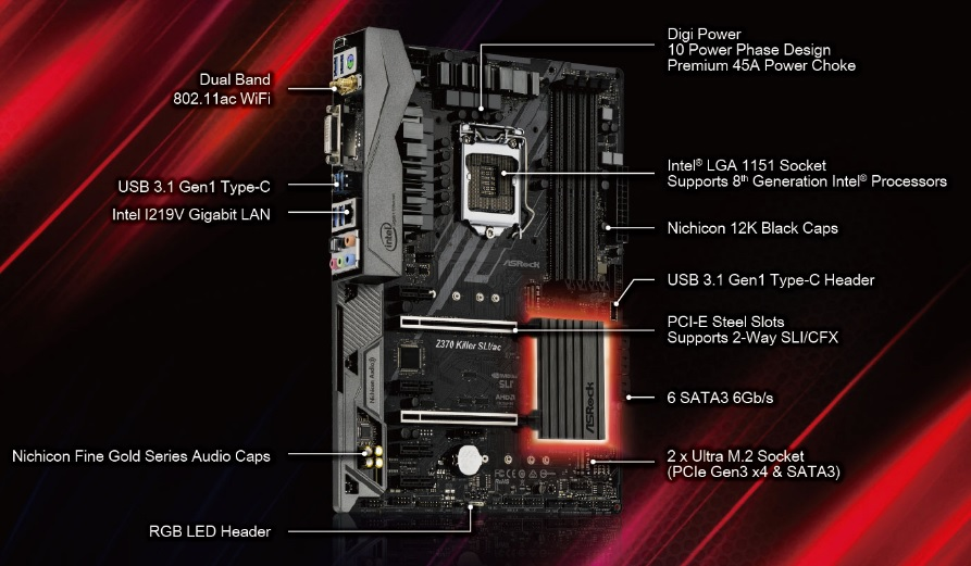 ASRock Z370 Killer SLI/ac Motherboard Review - Page 3 of 10 - FunkyKit