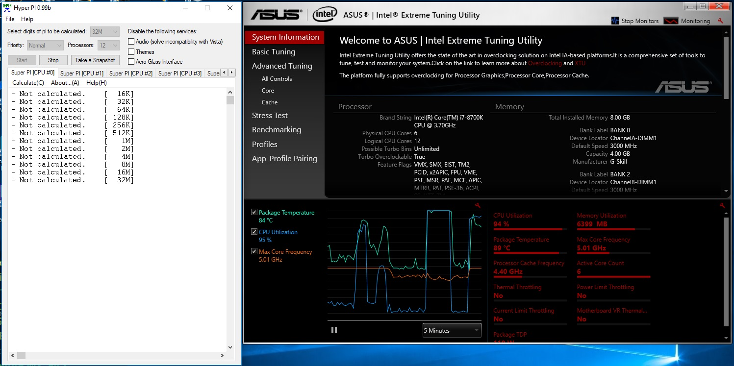 Overclocking The Core I7 8700k Coffee Lake To 5 0ghz On All 6