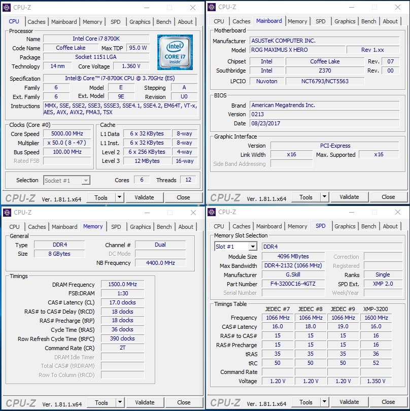 Overclocking the Core i7-8700K (Coffee Lake) to 5 0GHz on