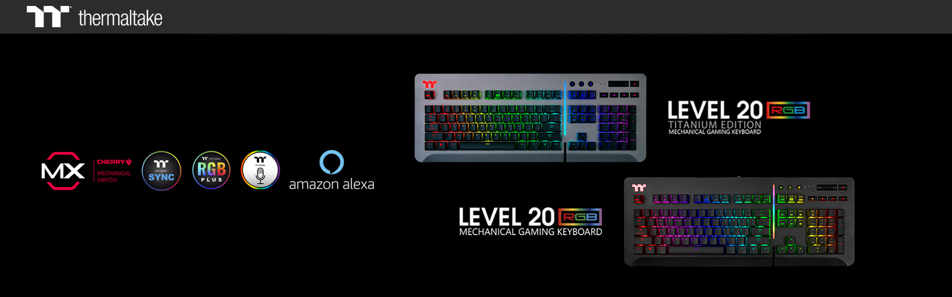 Thermaltake Gaming Unleashes New Level 20 RGB Gaming Keyboard_1