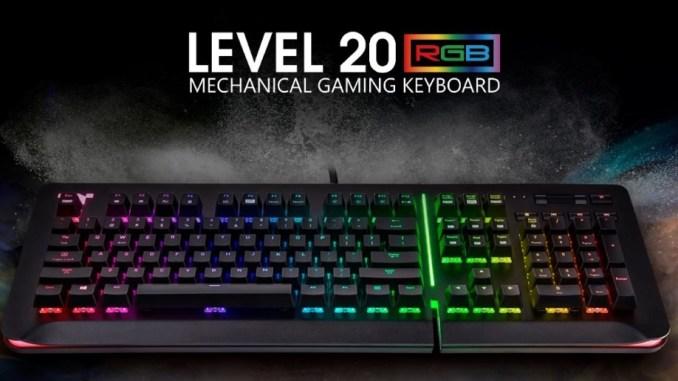 cffc5528ee6 Thermaltake Premium Level 20 RGB Cherry MX Speed Silver Gaming Keyboard  Review - FunkyKit