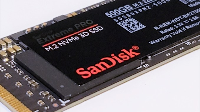SanDisk Extreme PRO 500GB M.2 NVMe 3D SSD Review
