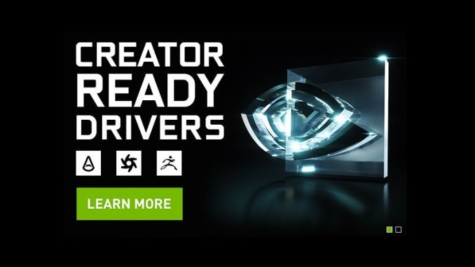 NVIDIA Releases GeForce 419 67 Creator Ready Drivers - FunkyKit