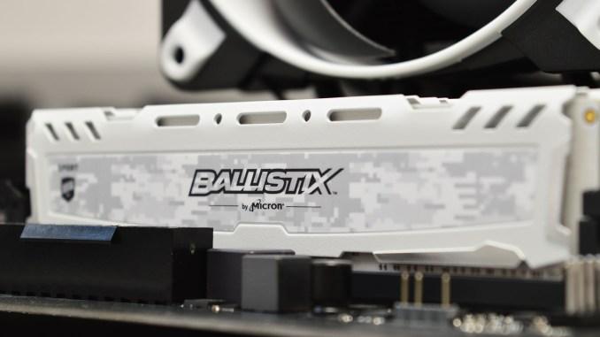 Ballistix Sport LT 64GB DDR4-3200 White Memory Kit Review
