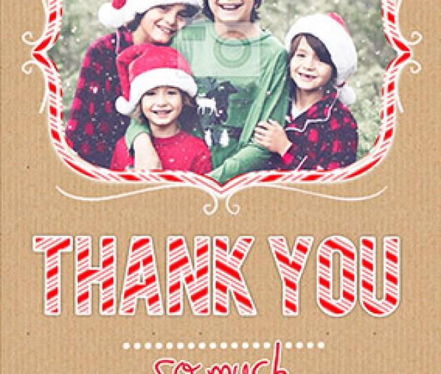 Candy Cane Lane Christmas Thank You