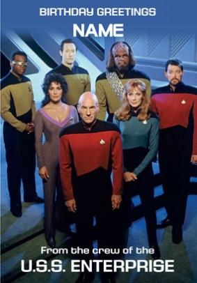 Star Trek Birthday Greetings From The Crew Funky Pigeon