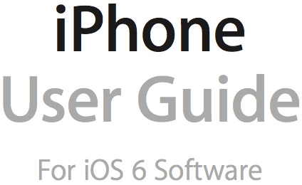 Apple Releases The iPhone 5 And iOS 6 User Guide