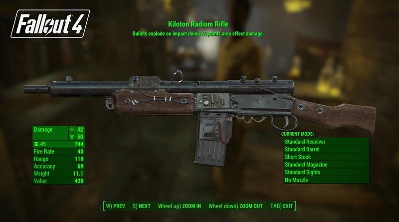 Fallout 4 Far Harbor Kiloton Radium Rifle