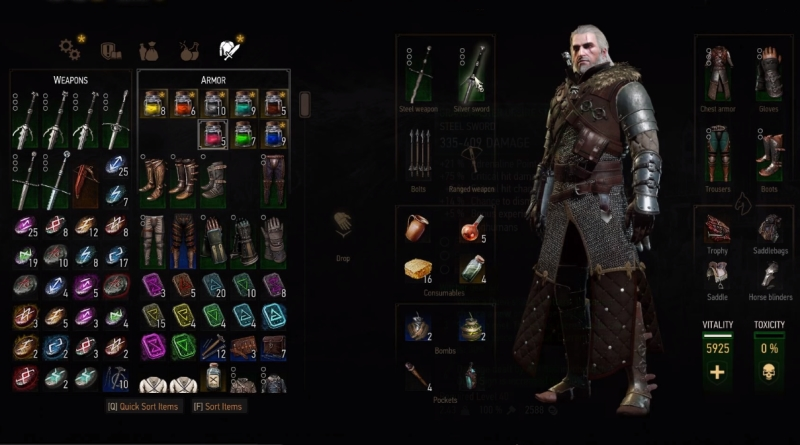 The Witcher 3 Blood and Wine Grandmaster Ursine Bear Gear