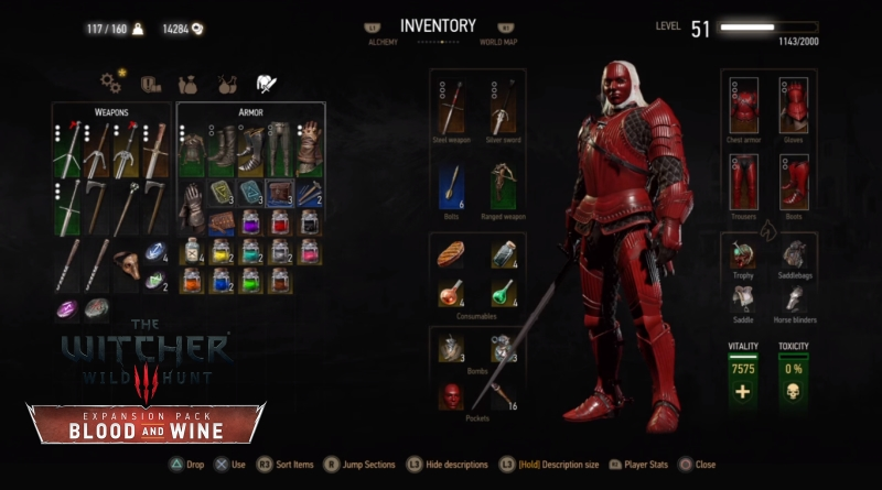 The Witcher 3 Blood and Wine Hen Gaidth Armor