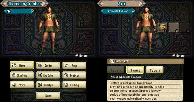 Monster Hunter Generations Character Creation - Hunter Arts