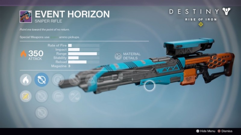 Best Vendor Weapons in Destiny Rise of Iron - Event Horizon
