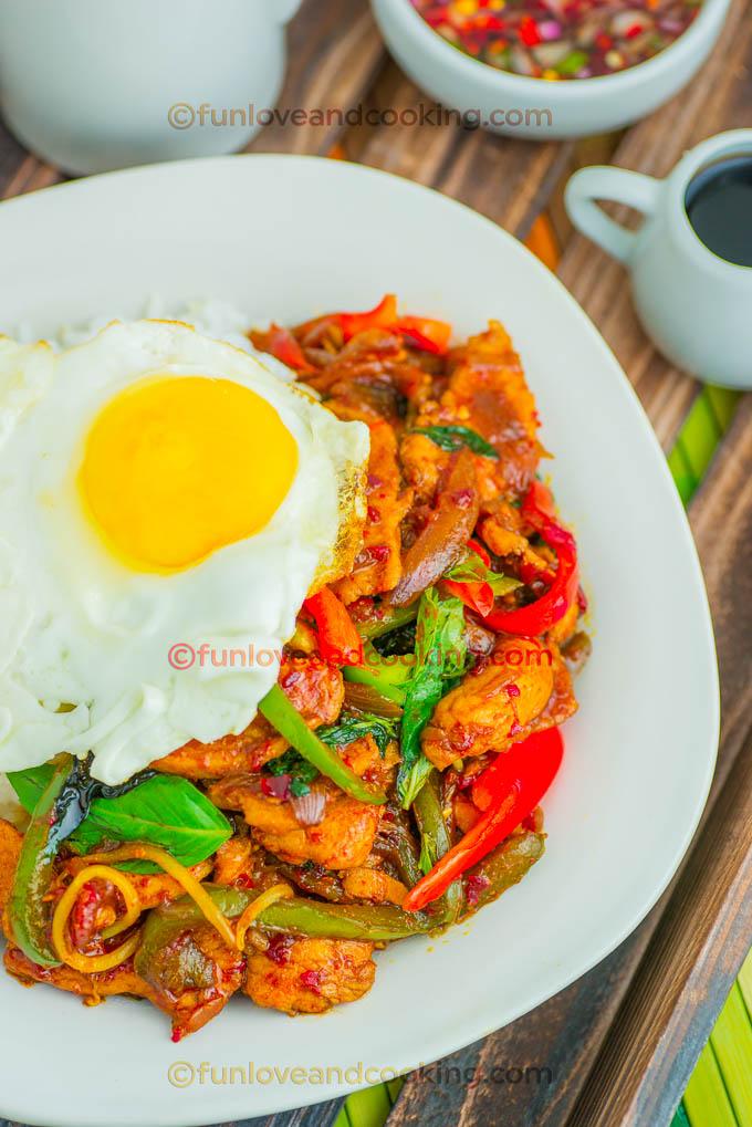 Thai Basil Chicken Recipe funloveandcooking.com