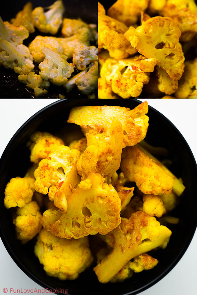 Cauliflower in Coconut Gravy recipe funloveandcooking.com