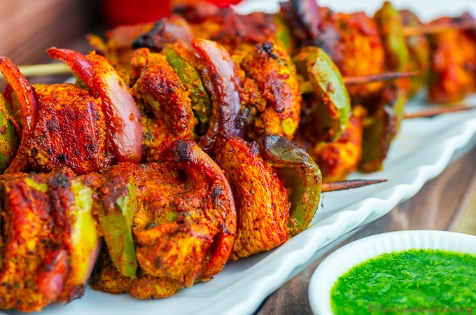 Skewered Chicken Sosaties – Chicken Tikka