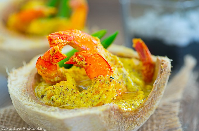 Daab Chingri – Prawns Cooked in a Tender Coconut Shell