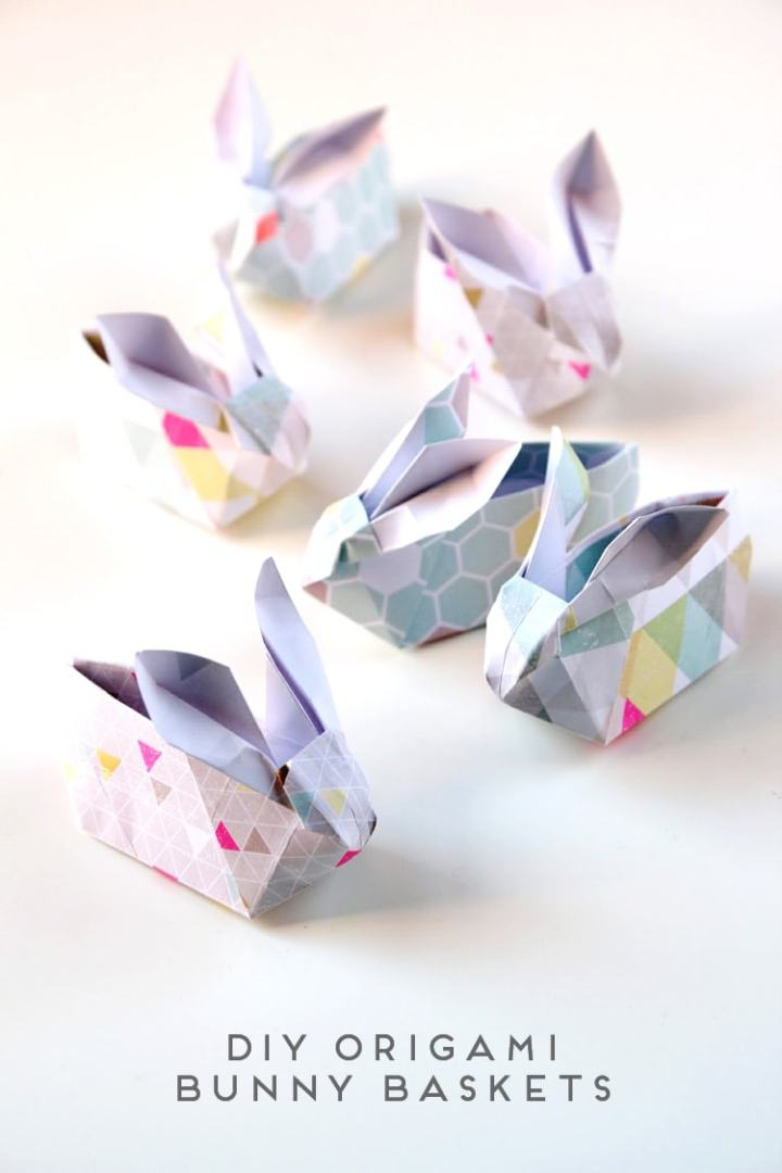 origami bunny baskets
