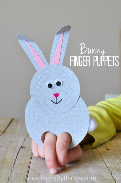 bunny finger puppet craft