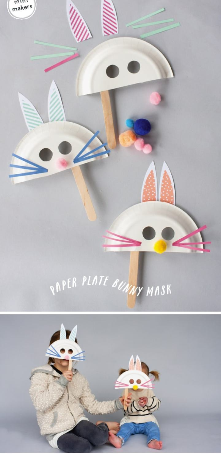 Fun and simple bunny craft for kids. Lots of other great bunny crafts here, too.