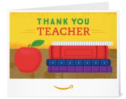 Printable amazon gift card for teacher