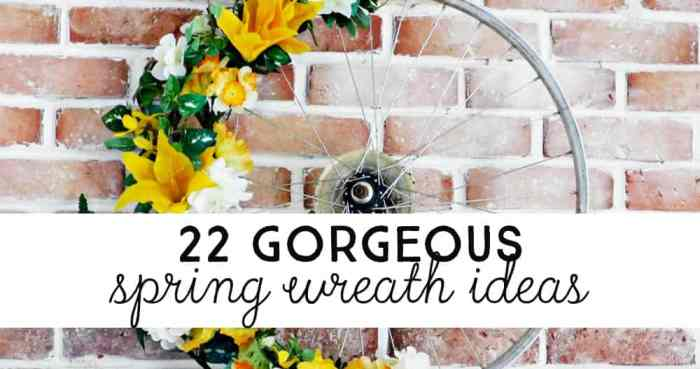 lots of ideas for DIY spring wreaths to decorate for Spring