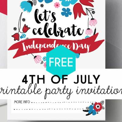 4th of July Free Printable Invitations