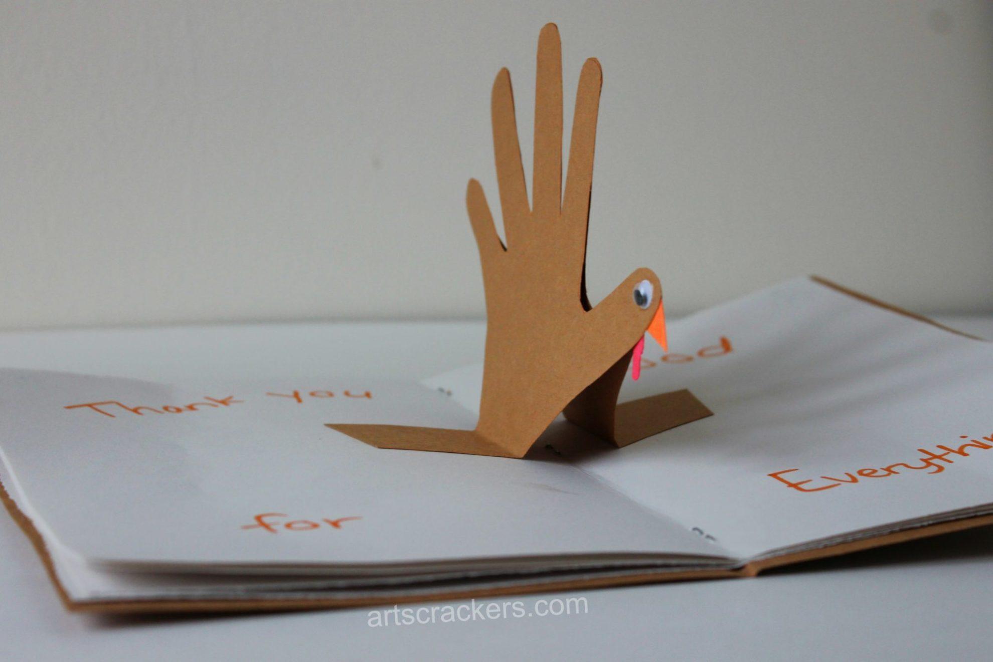 Thanksgiving Hanprint Craft Thankful Turkey Journal