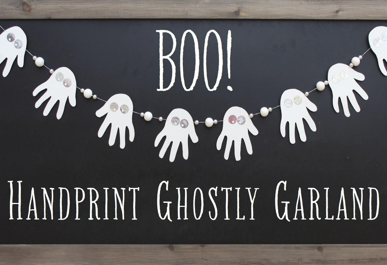 handprint ghost garland craft