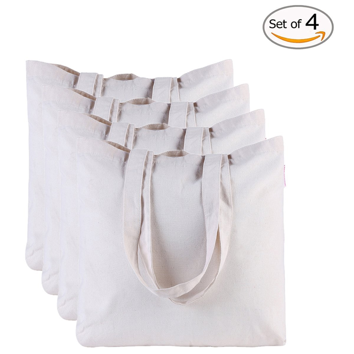 Make Fall keepsake crafts with these plain white canvas tote bags.