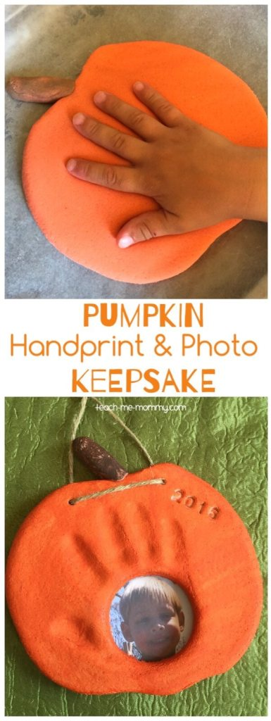 handprint pumpkin craft for kids