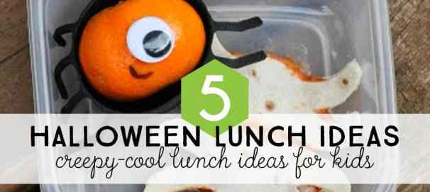 Make your kids a special lunch for Halloween this year with these awesome creepy and cute Halloween lunch ideas for kids.