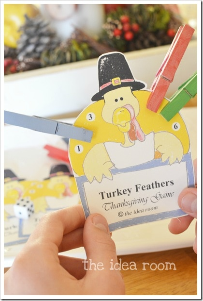 Keep this game at your Thanksgiving kids table for the kids to play while they wait for dinner. This game is fun for all ages, and simple enough for preschoolers.